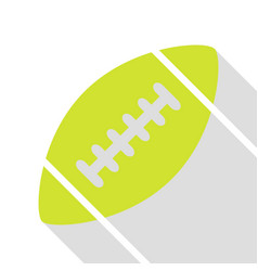 American simple football ball pear icon with flat vector
