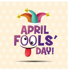 April fools day typography colorful flat design vector