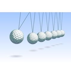 Balancing golf ball vector