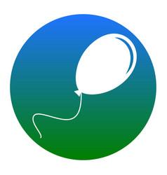 Balloon sign white icon in vector