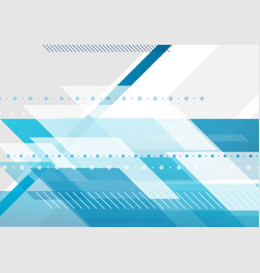 bright blue and grey tech minimal background vector image vector image