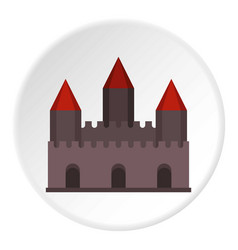 Castle tower icon circle vector