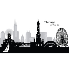 Chicago illinois skyline vector