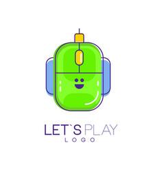 Computer mouse logo digital technology concept vector