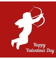 Cupid silhouette vector