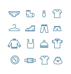 Different clothes silhouettes collection vector
