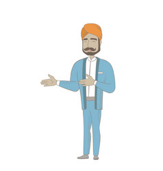 Hindu happy businessman gesturing vector