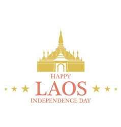Independence Day Laos vector image vector image