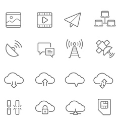 Lines icon set - network communication vector