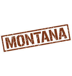 Montana brown square stamp vector