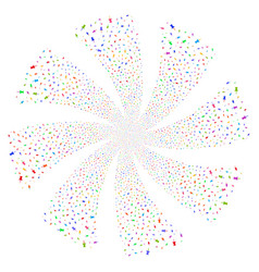 Pin fireworks swirl flower vector