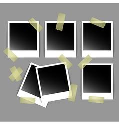 Polaroid photos vector