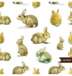 Rabbit hare pattern watercolor vector