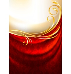 red fabric curtain vector image