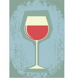retro grunge wine vector image vector image
