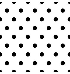 Retro pattern with black polka dots on white vector