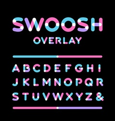 Rounded font alphabet with overlay effect letters vector image vector image