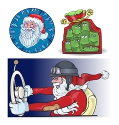Santa vraznykh types hurry to you vector