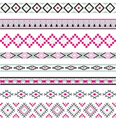 Seamless pattern tribal design ethnic vector