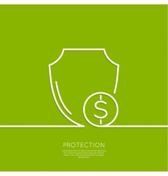 Shield and coin vector image vector image