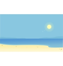 Silhouette of beach scenery with sun vector image