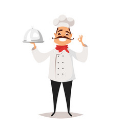 Smiling chef cook vector