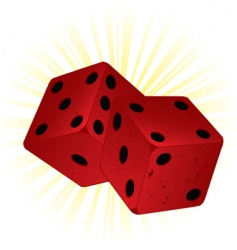 two red dice vector image vector image
