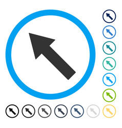Up-left rounded arrow icon vector