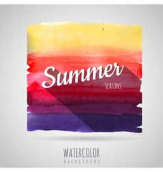 Watercolor abstract background seasons summer vector