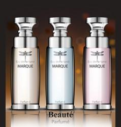 women perfume bottles collection fragrance vector image