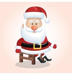 Santa claus sitting chair design graphic vector