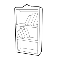 Bookcase icon isometric 3d style vector