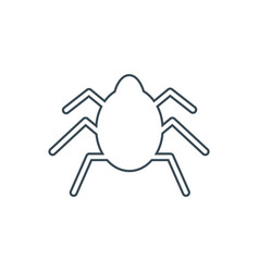 Bug silhouette icon vector
