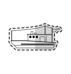 Fishing boat icon image vector