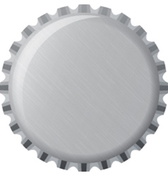 Metallic bottle cap vector