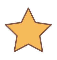 Yellow star award element cartoon icon vector