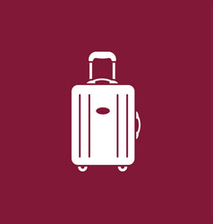 Luggage modern icon vector