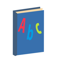 Abc book icon flat cartoon style isolated on vector
