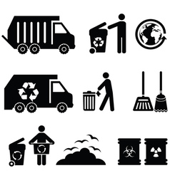 Garbage icons vector