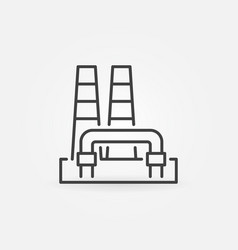 Outline geothermal power plant icon vector