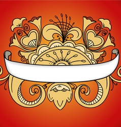 Fantastic style ornamented banner on red vector