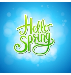 Happy sparkling hello spring card design vector