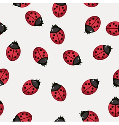 Seamless pattern background with ladybugs vector