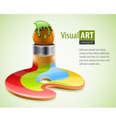 Paint brush as symbol of vector