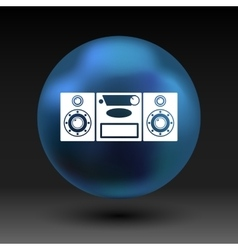 Music center icon art audio vector