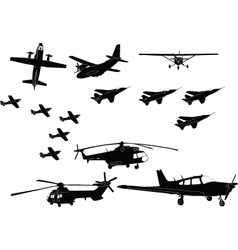 Aircraft collection - vector