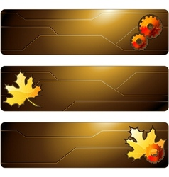 futuristic banners vector image