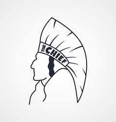 Indian chief art sign vector
