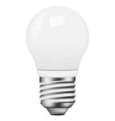 Photo-realistic energy saving bulb vector