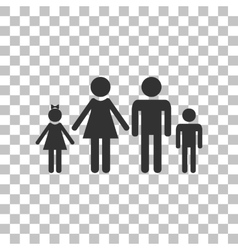 Family sign  dark gray icon on vector
